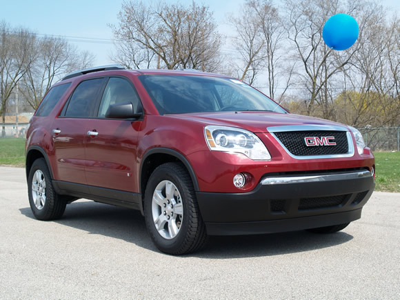 2009 GMC Acadia Red Jewel Tintcoat