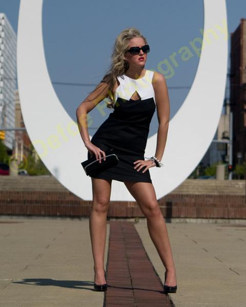 Sarah wearing BB Dakota Summer 2009 Dress