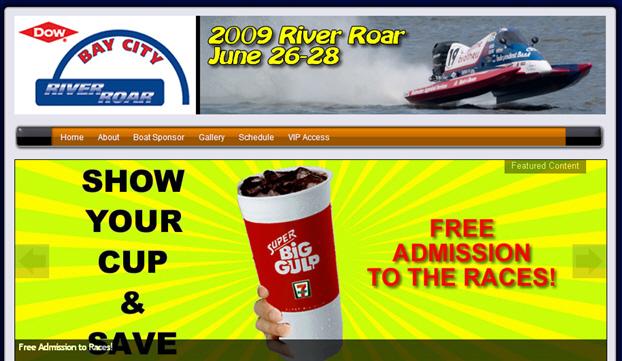 New River Roar website designed by David Defoe