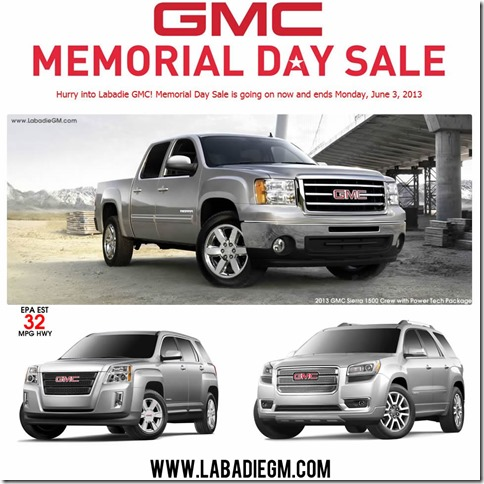 GMC Memorial Day Sale Saginaw MI