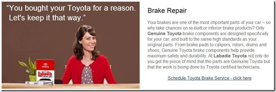 Toyota Brake Repair Saginaw MI