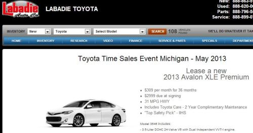 Toyota Time Sales Event