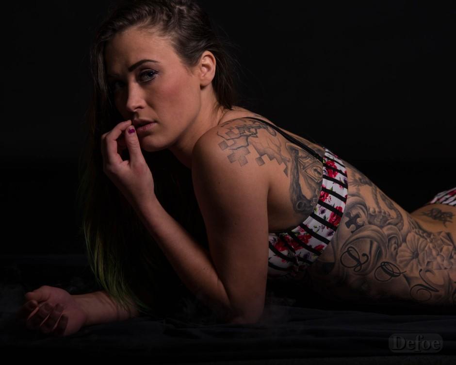 female lingerie model