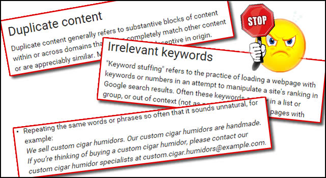 stop keyword stuffing